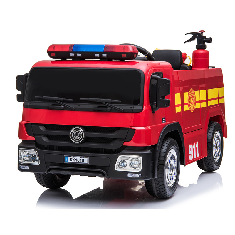 children ride on fire truck electric with remote control