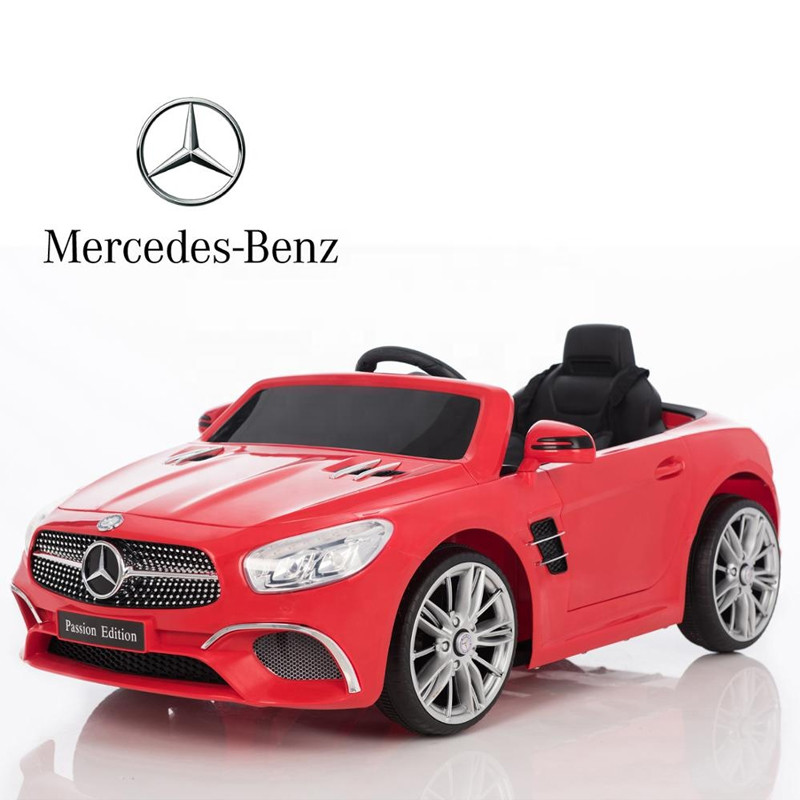 Cheap battery license car Mercedes benz kids electric car baby ride on toy car