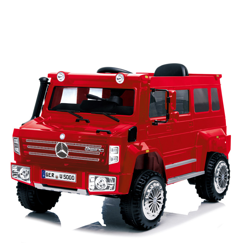 12 volt battery operated ride on car toy electric cars for kids to drive benz Unimog licensed