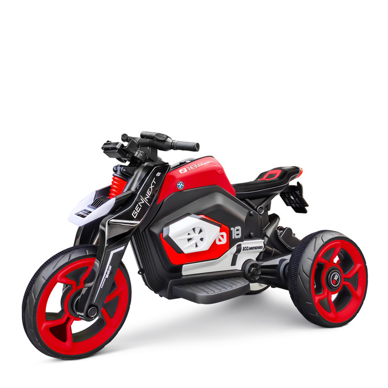 New electric kids motorcycle rechargeable racing motorcycle for child to drive