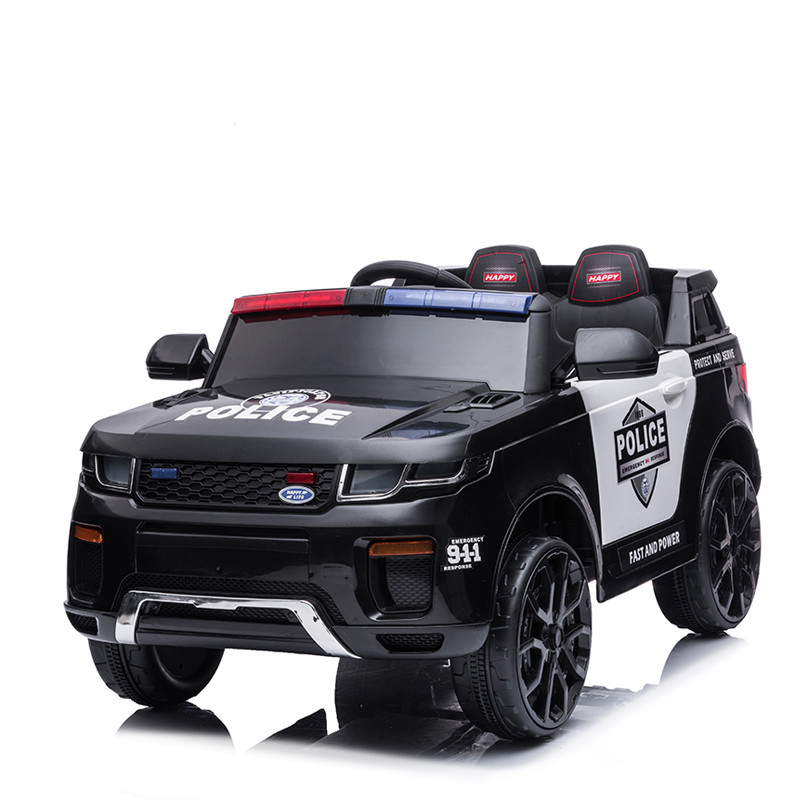 Cheap police electric ride on car for kids to play indoor with remote