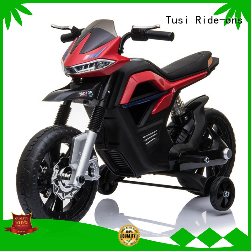 Tusi colorful kids motorcycle ride on factory price for transportation